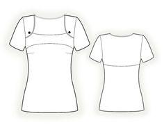 Blouse With Yoke - Sewing Pattern #4321