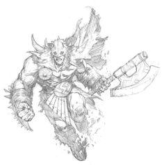 Garruk sketch - Prescott Draw-Blog http://prescottdrawblog.blogspot.co.uk/