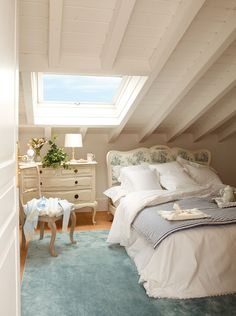 slanted ceilings in bedroom