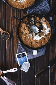 A Tea Infused Skillet Cookie & No-Churn Ice Cream | Crafts and a Cat