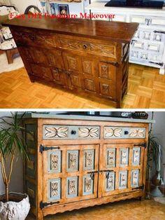 28 Awesome DIY Furniture Makeover Ideas - Dresser Makeover With Chalk Paint - Cheap Furniture Makeover, Diy Furniture Renovation, Refurbished Furniture, Painted Furniture, Dresser Furniture, Furniture Buyers, Furniture Dolly, Furniture Refinishing, Furniture Stores