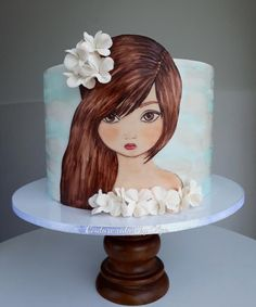 Painted girl by Couture cakes by Olga