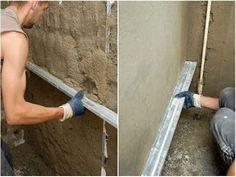 Начинающие ремонтники часто интересуются вопросом, как правильно штукатурить стены своими руками. Расскажем обо всех тонкостях этого процесса и подробно опишем способы работы с разными видами штукатурных смесей. (Фото & Видео) Home Kitchens, My House, Building A House, Concrete, Diy And Crafts, Construction, Interior Design, Home Decor, Youtube