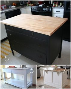 Diy kitchen island from stock cabinets diy home pinterest diy roundup 12 diy kitchen tables islands and cupboards you can make yourself solutioingenieria Images