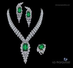 A breathtaking cascade of the world's most exquisite diamonds and emeralds.