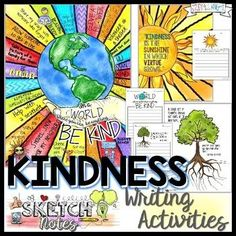 Is your classroom focused on kindness, caring and respect?This FREE kindness writing activity will increase your studentst writing skills, achievement, and knowledge. Sketchnotes are creative, hands-on, auditory, personal, and brain-friendly fun! If you love interactive notebooks you'll love this differentiation strategy!