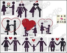 Cross Stitch Family, Cross Stitch Books, Cross Stitch Heart, Cross Stitch Cards, Cross Stitch Animals, Cross Stitching, Cross Stitch Embroidery, Wedding Cross Stitch Patterns, Cross Patterns