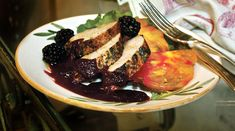 Grilled Pork Tenderloin with Blackberry Cabernet Sauce