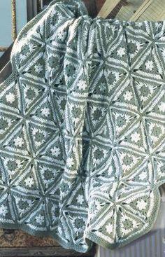 Angular Granny Throw Crochet Pattern | Red Heart