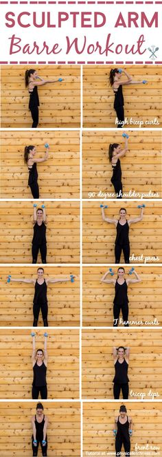 fitness Sculpt and tone your arms in ways you never imagined with this barre inspired arm workout. Little movements with lots of repetition will work arm muscles in miraculous ways! Shaping your biceps, shoulders, and triceps. Home or gym workout! Sport Fitness, Body Fitness, Fitness Diet, Health Fitness, Workout Fitness, Fitness Goals, Fitness Exercises, Workout Exercises, Upper Arm Exercises