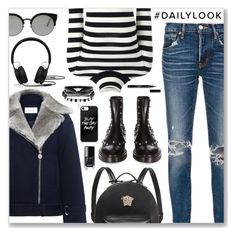 """""""#DailyLook"""" by dressedbyrose ❤ liked on Polyvore featuring moussy, Carven, Balenciaga, Laneus, Versace, RetroSuperFuture and Beats by Dr. Dre"""