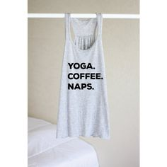 Yoga Coffee Naps Yoga Shirt Flowy Tank Yoga Top Yoga Clothes Funny... (265 ARS) ❤ liked on Polyvore featuring tops, silver, tanks, women's clothing, summer tanks, sheer shirt, racerback tank tops, checked shirt and sheer tank top