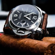 Craving a good cigar right about now thanks to this awesome Panerai shot.