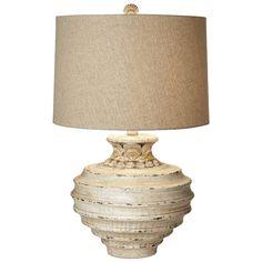 Beach Table Lamps: Ocean Crown Table Lamp|Bella Coastal Decor