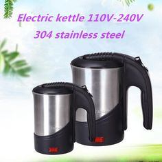 [Visit to Buy] 110V-240V Electric Water Kettle Travel Kettle Mini Heating Cup Portable Electric kettle  #Advertisement