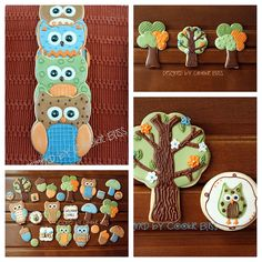 FALL, owls, mushrooms, trees   by Cookie Bliss (Laurie)