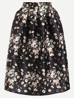 Shop Floral Print A-Line Skirt With Zipper online. SheIn offers Floral Print A-Line Skirt With Zipper & more to fit your fashionable needs.