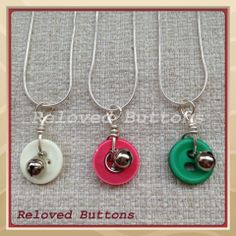 button and bell necklaces