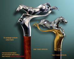 Handmade Walking Cane / Handmade Walking Stick: HORSE by Boris Palatnik
