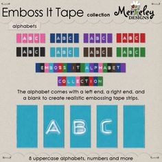 Emboss It Tape Alphabet - Collection
