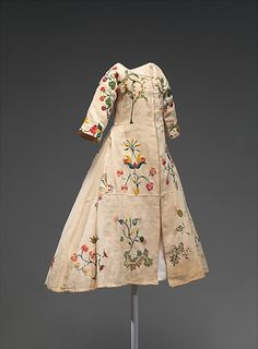 Dress, American, mid 18th Century, linen, wool