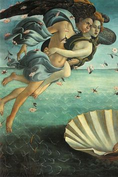 Detail from Sandro Botticelli I Birth of Venus I 1469