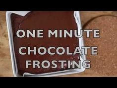 One Minute Easy Chocolate Frosting - Spend With Pennies
