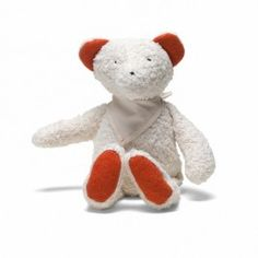 Organic Wooly Teddy Bear. Made in Germany from soft organic cotton, filled with pure wool. Available at Bella Luna Toys.