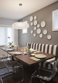 Genial Check Out This Fantastic Gray Dining Room Space @decorpad Featuring The  Clear TOBIAS Chairs From