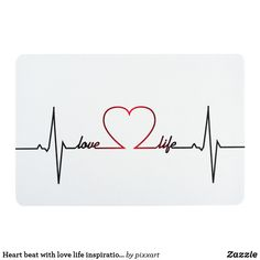 Heart beat with love life inspirational quote floor mat Heart Disease Tattoo, Heart Lock Tattoo, Love Life Inspirational Quotes, Inspiring Quotes About Life, Love Life Tattoo, Equality Tattoos, Beats Wallpaper, Empathy Quotes, Anniversary Ideas For Him