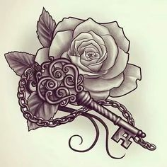 Rose and key