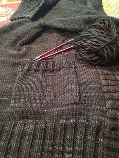 Susan B. Anderson: Adding Patch Pockets to a Finished Cardigan