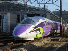 新幹線:エヴァンゲリオン プロジェクト「500 TYPE EVA」車両で大阪~博多間ツアー実施 | ファッションプレス
