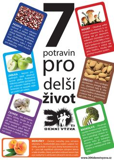 7 potravin pro delší život - 30ti denní výzva Coconut Water, Detox, Healthy Lifestyle, Low Carb, Food, Essen, Meals, Healthy Living, Yemek