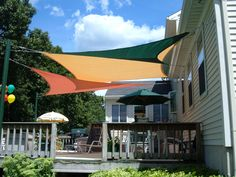 Custom and Stock shade sails. Lots of ideas and information here