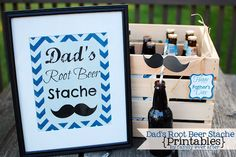 Family Ever After....: {Father's Day Gift} Root Beer Sampler Stache
