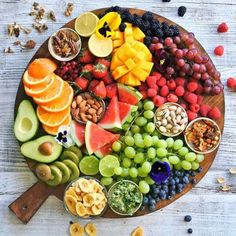 fitbodymag:  Fruit Platter with Nuts and Berries #Healthy Snack