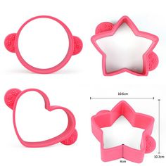 Hot 3Style Diy Round Star Heart Silicone Mold Cake Decorating Mould Baking Tools