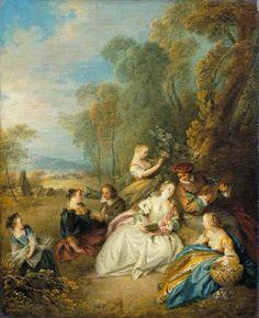 The Athenaeum - A Concert (Jean-Baptiste Pater - )