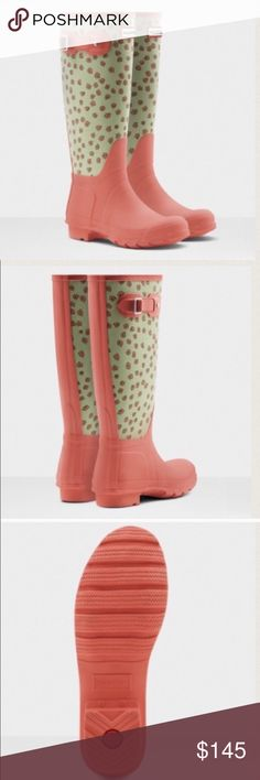 Brand new Hunter floral rain boots New in box Hunter Shoes Winter & Rain Boots