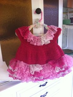 My version - Crochet baby dress (6-9mos) http://thecrochetcrowd.com/1stgown/