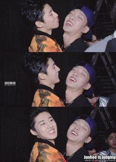 "(Double B vs Junhoe) Junhoe: ""Get a room~! Yg Ikon, Ikon Kpop, Sassy Diva, Koo Jun Hoe, Ikon Debut, Double B, Kim Ji Won, Meme Center, Kim Hanbin"