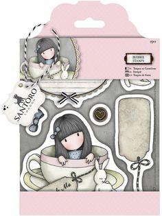 "Santoro/Docrafts Gorjuss ""Sweet Tea"" Rubber Stamp Set *NEW*"