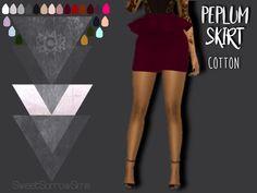 SWEET SORROW SIMS - PEPLUM SKIRT New Mesh All LODS Bottoms > Skirt ...