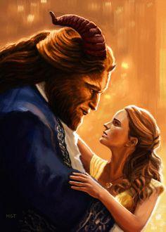 Beauty and the Beast fan art, marvin tabacon on ArtStation at https://www.artstation.com/artwork/beauty-and-the-beast-fan-art