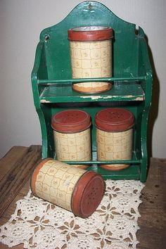 Vintage Wood Universal Spice Cabinet Primitive by VintageRene