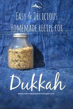 An easy and delicious homemade dukkah (dukkha, dukka, duqqa) recipe and at least 7 different ways you can use it. Homemade Liquor, Homemade Spices, Homemade Soap Recipes, Veggie Recipes, Appetizer Recipes, Whole Food Recipes, Cooking Recipes, Appetizers, Chicken Recipes