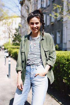 Khaki jacket, Breton stripes and high waisted jeans | Style | The Lifestyle Edit
