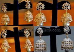 Jewellery Designs: Pearls Drops jhumkas by Kotharis Jewellery