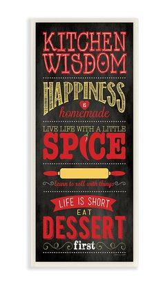 The Stupell Home Decor Collection Kitchen Wisdom Black Typography Art Wall Plaque >>> Check out the image by visiting the link. (This is an affiliate link) #Plaques